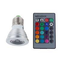 Bcelec - Ampoule à led Rgb E27 3W avec Télécommande