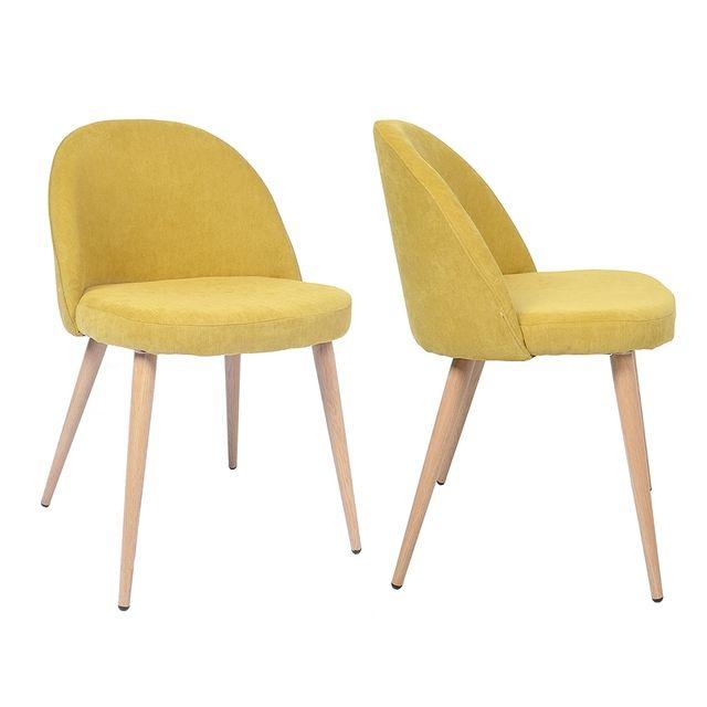 chaise vintage jaune. Black Bedroom Furniture Sets. Home Design Ideas
