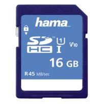 Hama - Carte mémoire Sdhc 16GB Classe 10 Uhs-i 45MB/S