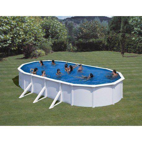 gre pools kit piscine hors sol acier ovale fidji avec renforts apparents pas cher achat. Black Bedroom Furniture Sets. Home Design Ideas