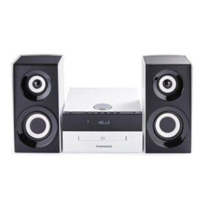 thomson micro chaine cd mp3 usb radio numerique blanche et noire pas cher achat vente. Black Bedroom Furniture Sets. Home Design Ideas
