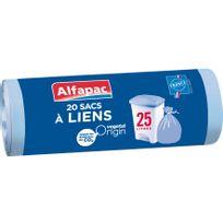 ALFAPAC - 20 sacs poubelle à liens - 25L - AFV02520