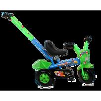 Artpol - Tricycle enfant 3-6 ans avec barre à pousser   Bleu et Vert