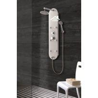 Maison De La Tendance - Colonne de douche hydromassante Tsitsi en verre 120x32x25 cm