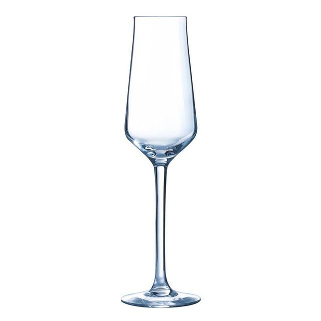 Chef & Sommelier Flûte à champagne en verre transparent 21cl - Coffret de 6 Reveal Up