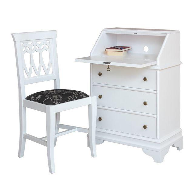 artigiani veneti riuniti petit meuble abattant avec chaise assortie blanc pas cher achat. Black Bedroom Furniture Sets. Home Design Ideas