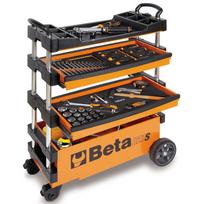 Beta Tools - chariot à outil repliable C27S-O en acier orange