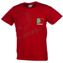 Holiprom - Tee shirt manches courtes Portugal euro rge mc tee Rouge 24698