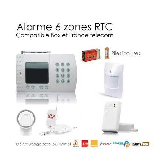 soldes securitegooddeal kit alarme sans fil de maison 6 zones easy box pas cher achat. Black Bedroom Furniture Sets. Home Design Ideas