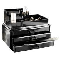 Compactor - Grand coffret noir pour maquillage et bijoux