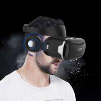 Wewoo - Casque Vr noir pour iPhone, Samsung, Huawei, Xiaomi, 4.5 pouces - 6.0 Android et iOS Smartphone Réalité Virtuelle 3D Vr Lunettes Vidéo Box