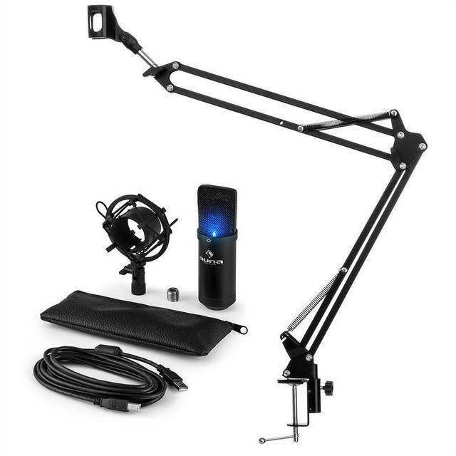 electronic star auna mic 900b usb set microphone v3 condensateur perchette cardio de led pas. Black Bedroom Furniture Sets. Home Design Ideas