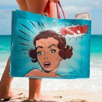 Marque Generique - Sac à main de plage avec fermeture aimantée Design - Wow
