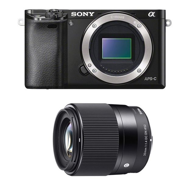 Sony Alpha 6000 Noir + Sigma 30mm 1.4 Garanti 3 ans