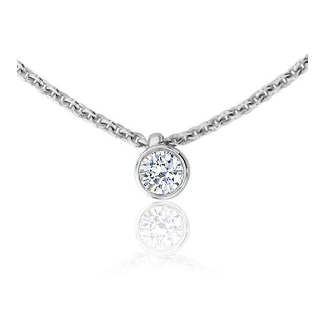 collier diamant solitaire femme