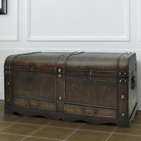 Rocambolesk - Superbe Coffre au trésor en contreplaqué brun Neuf