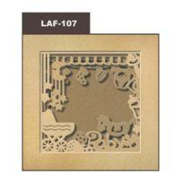 Marque Generique - Cadre photo en carton Naissance - 21x21 cm