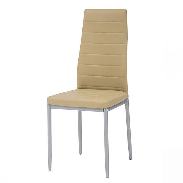 Chaises en polyuréthane Pure Design Queen Beige x4
