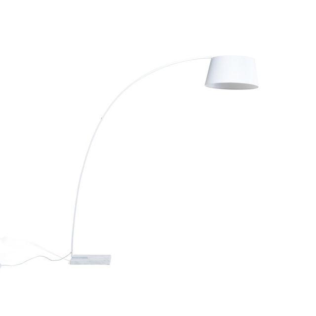 BELIANI - Lampadaire design - luminaire - lampe de salon - blanc - Benue