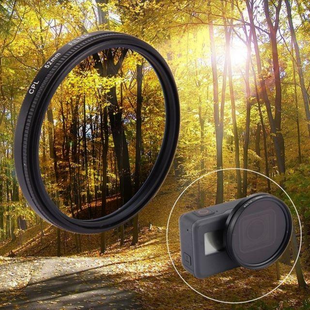 Wewoo - Filtre pour GoPro Hero5 52mm 3 dans 1 rond de lentille de Cpl avec 797a080cd132