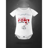 Autre - Body pour bébé en coton bio - ma grande soeur 3 mois