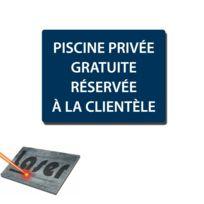 """Plaque gravée autocollante 20x15 /""""Stationnement interdit/"""" fond rouge"""