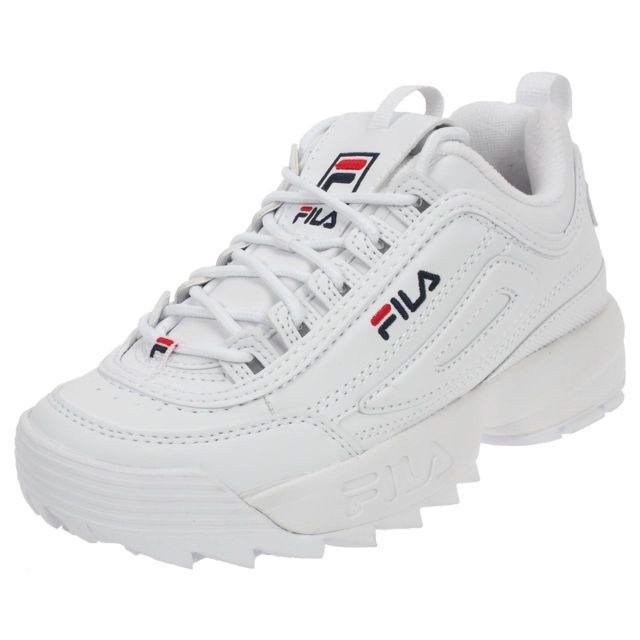 Fila Chaussures Low Blanc Ou Simili Cuir L Basses Disruptor 4SrwqU47