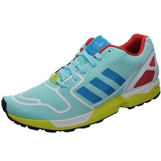 Zx Vente Pas Running Cher Flux Chaussures Adidas Achat Bleu POwHHz
