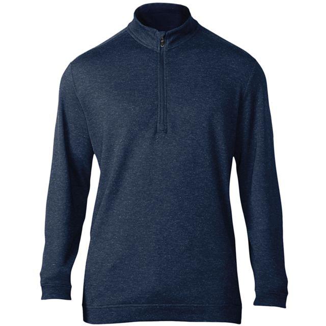ADIDAS Pullover col zippé - Homme S, Bleu petrole Utrw6193