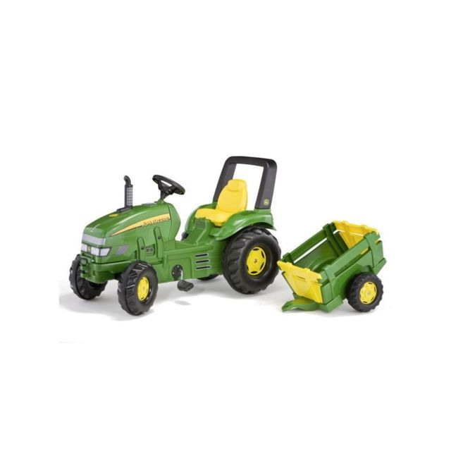 Rolly Toys Tracteur a pédales John Deere + remorque