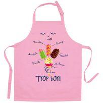 Torchons Et Bouchons - Tablier Enfant Glaces Rose 52 X 63 Torchons & Bouchons
