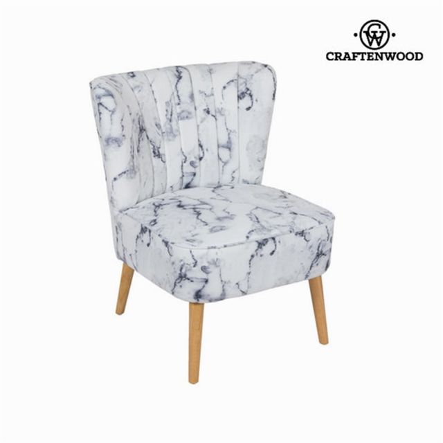 Craftenwood Fauteuil en tissu marbre by