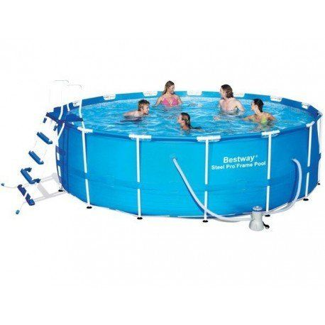bestway piscine tubulaire ronde 4 57 x 1 22 m avec filtre cartouche et accessoires pas. Black Bedroom Furniture Sets. Home Design Ideas