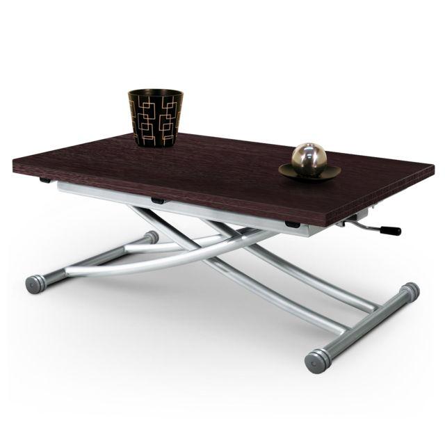 Giovanni Table basse relevable Mirage wengé