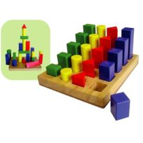 Milly Mally - Jeu de construction trieur de forme figures géométriques en bois bébé enfant 2ans+ | Multicolore