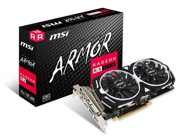 Carte graphique Radeon RX 570 Armor OC 4 Go MSI