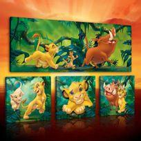 Bebe Gavroche - Tableau Disney The Le roi lion Canvas prints / pictures set S15 - 1x80x30cm /R30X18; 3x25,8x24,80cm /R18X18