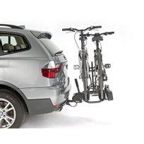 Porte-vélo plateforme, basculable sur attelage 100% monté, 2 vélos A021P2RA, fixation sur boule d'attelage