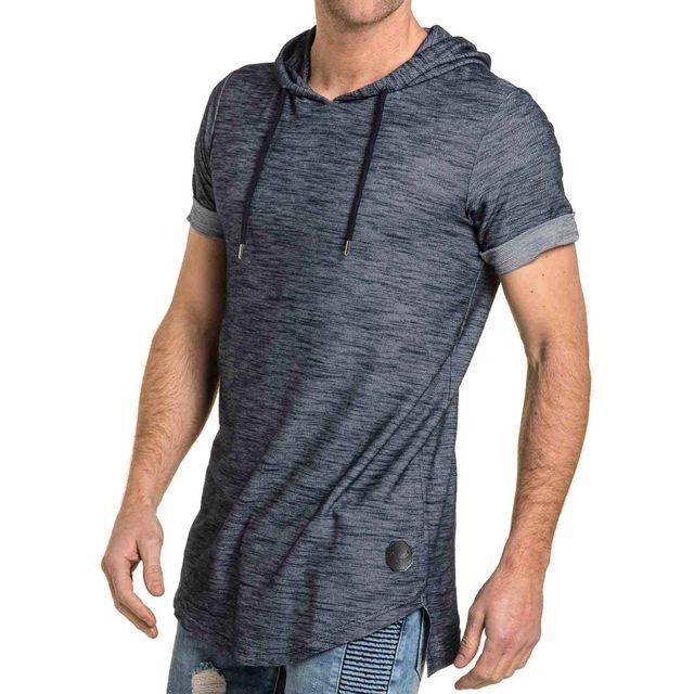 7263152fd68fb Project X - Tee-shirt homme fine maille bleu à capuche XS S - pas cher Achat    Vente Tee shirt homme - RueDuCommerce