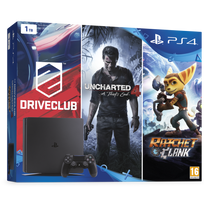 SONY - Pack Family Nouvelle PS4™ 1To - DriveClub + Uncharted 4 + Ratchet & Clank