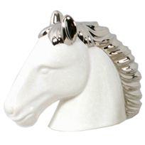 Fayet - Statuette tête de Cheval blanche