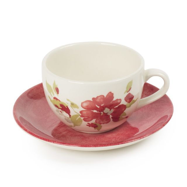 TABLE PASSION Tasse à thé 20 cl et sa soucoupe BAGATELLE LOT DE 6