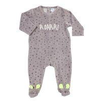 TEX BABY - Pyjama bébé PRETTY JUNGLE ALLOVER en velours