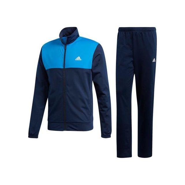 Adidas Survêtement 3 bandes Back 2 Basics bleu foncé