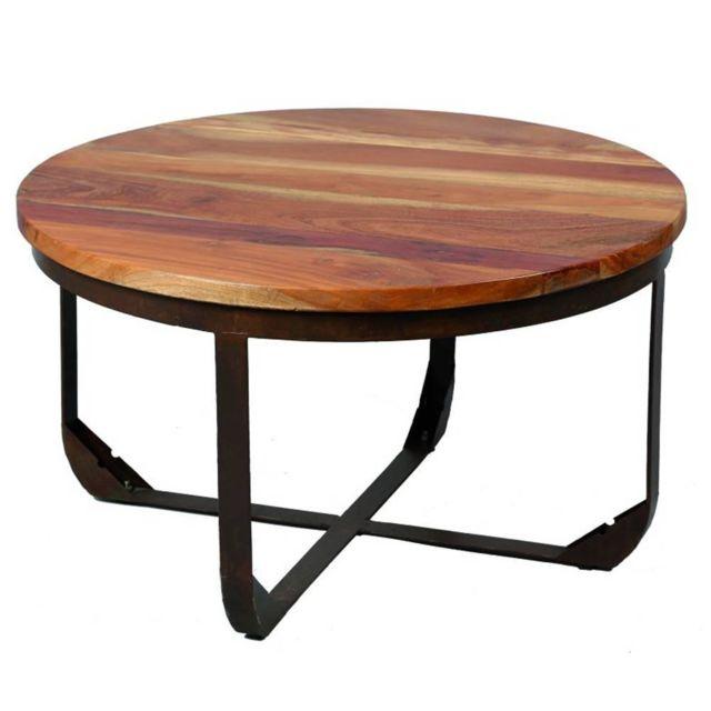 Inside 75 Table basse Alabama en bois recyclé