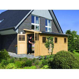 karibu pool zen spa abri de jardin juist 5 coloris bois naturel dimensions 181 x 442 x 230cm. Black Bedroom Furniture Sets. Home Design Ideas