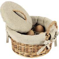 AUBRY GASPARD - Panier à oeufs en osier clair