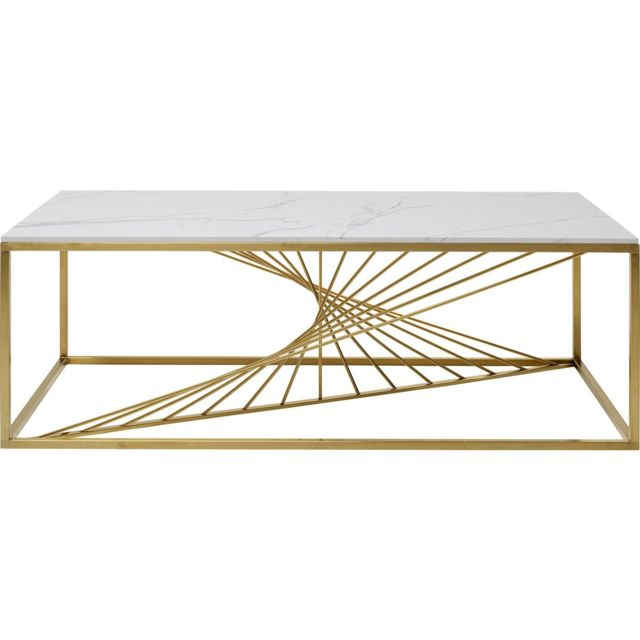 Karedesign Table basse Art effet marbre 140x70cm Kare Design