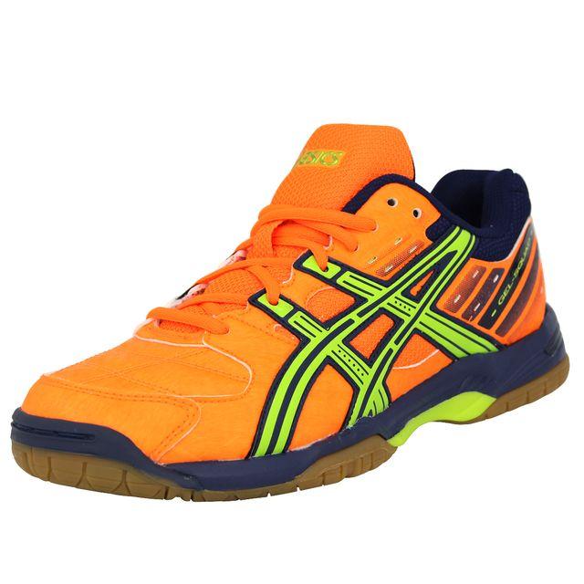 Asics Gel Squad Chaussures de Handball Homme Orange Non