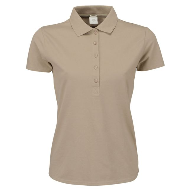 TEE-JAYS Tee Jays - Polo stretch à manches courtes - Femme 2XL, Taupe Utbc3307